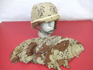US Army PASGT Helmet made wKevlar Cover Chocolate Chip Size MedLG - Very Nice