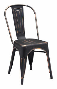 Elio Dining Chair Anti Black Gold Home Dining Furniture Chairs