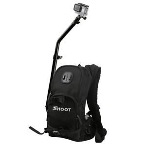 SHOOT Large Camera Backpack Bag for GoPro Hero 765 xiaoyi SJCam Action Camera
