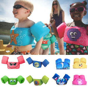 Kids Baby Cute Puddle Jumper Swimming Deluxe Cartoon Life Jacket safety Vest