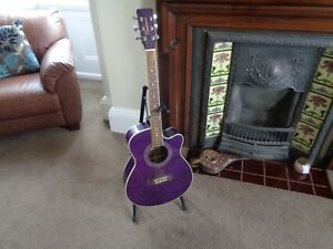 ROBERT PLANT AUTOGRAPH - A PLAYED &  SIGNED TANGLEWOOD ACOUSTIC GUITAR YORK 2016