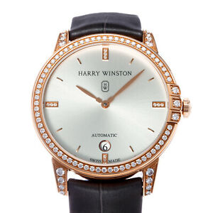 Harry Winston Midnight Date Automatic 36mm Rose Gold Dress Watch MIDAHD36RR