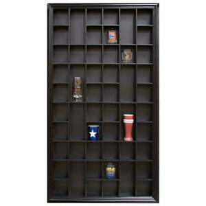 Display Storage Rack with 52 Individual Slots Black Home Collectibles Cabinet