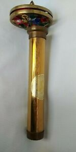 Vtg Amazing Brass Kaleidoscope by American Artist CORKI WEEKS Discontinued Model