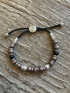 John Hardy Palu Batu Bronze Sterling Silver And Black Tourmaline Bead Bracelet