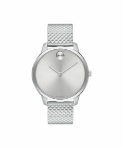 New Movado Bold Silver Dial Stainless Steel Bracelet Women's Watch 3600595
