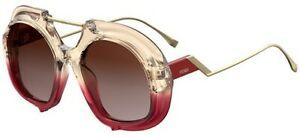 Fendi TROPICAL SHINE FF 0316S PINK REDBROWN SHADED women AUTHENTIC Sunglasses