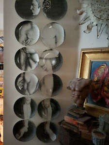 Vintage 1950's 60s? Fornasetti Adam Plates- Excellent condition.