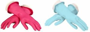 Casabella Waterblock Latex Gloves Tapered Fit & Double Cuff 2 Pairs