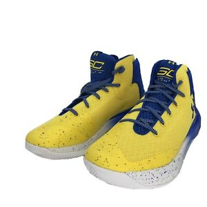 NEW UNDER ARMOUR STEPH CURRY BASKETBALL SHOES YELLOW & BLUE NEVER WORN SIZE 11.5