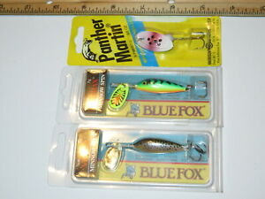 Lot of 3 Blue Fox & Martin Panther Diving Shad Crankbait Diving Lures