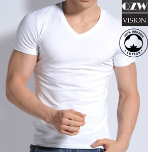 3 6 Pack Mens 100% Cotton Tangless Round V Neck T Shirt Undershirt Tee White $10.99