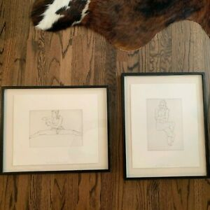 2 Seated Nudes By Robert Graham 1995 Signed Lithographs 15.5quot;x 20.5quot; 20.5x16.5 $700.00