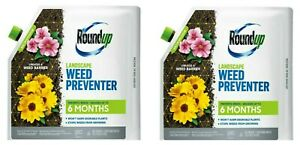 Roundup Landscape Weed Preventer 6 Months (5.37lbs) - Lot of 2 Brand New Sealed