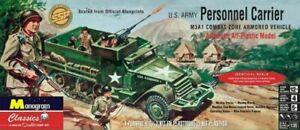 REVELL US ARMY PERSONNEL CARRIER W 8 FIGURES 1/35 Model Kit SEALED FREE SHIP