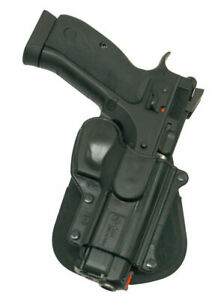 NEW! Fobus Black Paddle Holster For CZ 75D, CZ 75B, CZ SP 01, Compact with rails