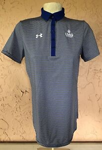 Under Armour IMG Academy Women's Stripped Polo Shirt Sz S Tennis Golf