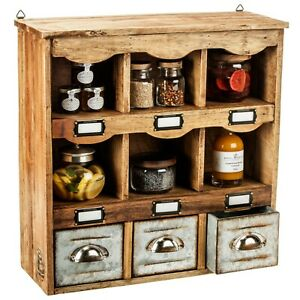 The Barrel Shack-THE BARRY-Kitchen Wall Hanging Storage Display Spices - NEW!