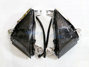Front Turn Signals Light Lens Cover For Kawasaki Ninja ZX14R/ZX10R/ZX6R/636/650R