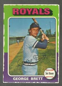 1975 TOPPS MINI BLANK BACK PROOF GEORGE BRETT ROOKIE CARD 228 GUARANTEED GENUINE