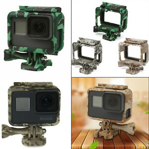 Camouflage Camera Body Shell Housing Border Case Cover for GoPro Hero 6 5 7 #HAU