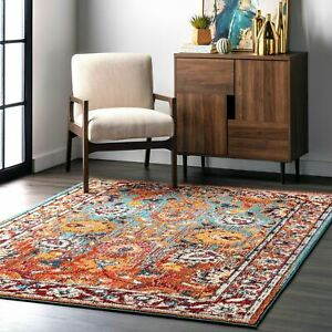 nuLOOM Traditional Transitional Vintage Floral Mallory Multi Area Rug $26.99