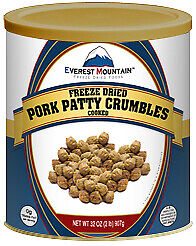 Fresh and Honest Foods Freeze Dried Pork Patty Crumbles 32 OZ #10 Can