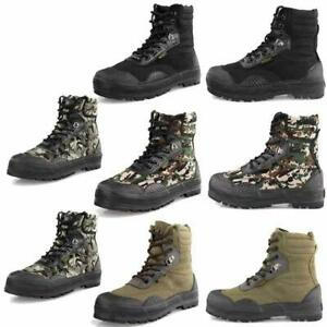 Men Camo Tactical Army Outdoor Breathable Combat Boots SWAT Hiking Hunting Shoes