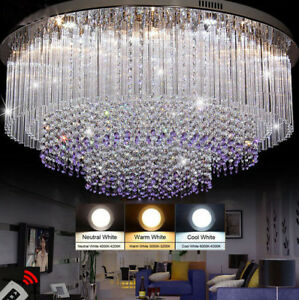 Round Crystal Ceiling LED chandelier Living room bedroom Crystal Light # 0022