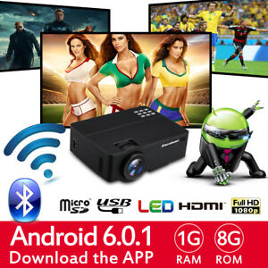 Excelvan LED Projector 3D Home Cinema 3600lumens FHD 1080P 4K Android WIFI US