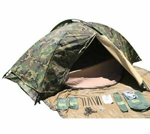 Eureka Combat Tent One Person Military Issue Woodland NSN 8340-01-535-0134