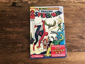 The Amazing Spider-Man Annual #1 1st Appearance of Sinister Six Marvel 1964 c