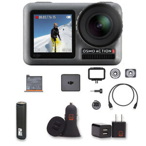 DJI Osmo Action Camera with 2 displays 11m Waterproof 4K 12MP Bundle with
