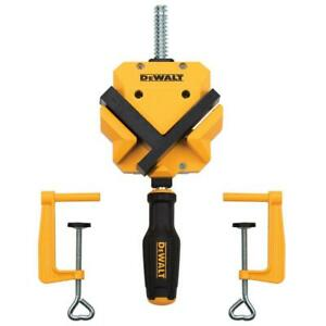 Dewalt Angle Corner Clamp 90 Degree 2 Table Clamps Woodworking Home Workshop $25.31
