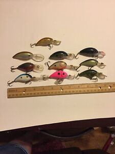 Mega Bass Bomber Bandit Etc Lures Lot Of 10