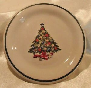 Mount Clemens Pottery 7 3 8quot; Salad Dessert Plate Christmas Tree 9 available
