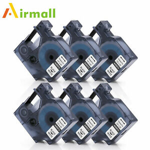 12mm 45013 Compatible with DYMO D1 Label Tape Black White LabelManager 1/2'' 6PK