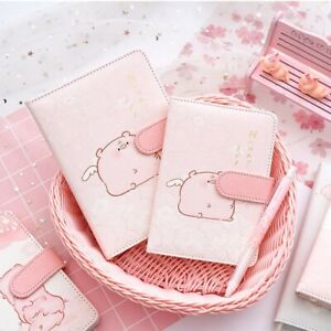 Lovely Pig Bullet Journal Leather Dotted Grid Ruled Blank Paper Diary Bujo 1PC