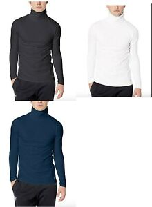 Under Armour Mens Fitted Coldgear Funnel Neck $55 White Navy Or Black $34.99