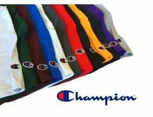 New Champion Unisex Premium Short Sleeve Solid Colored Fashion T-Shirts