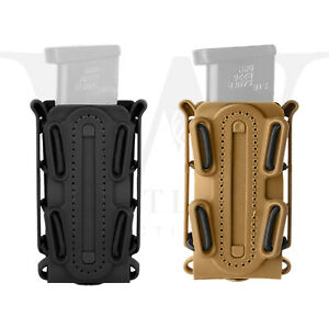 Tactical Scorpion Soft Shell 9mm Pistol Magazine Pouch Carrier Tall w/ Belt Loop