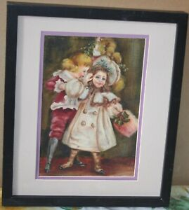 Old Victorian Oil Painting Playing of the Children $60.00