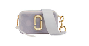 MARC JACOBS The Jelly Glitter Snapshot Light Purple Clear Cross Body Bag Purse