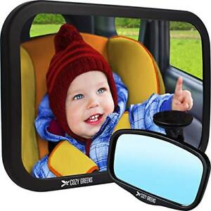 Baby Car Mirror for Back Seat  View Rear Facing Infant in Backseat  CRASH TE..
