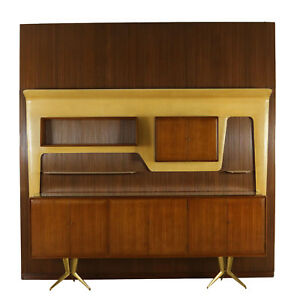 Piece of Furniture Designed by Gambarelli Mahogany Vintage Italy 1958