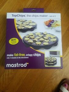 Mastrad Black Silicone Microwave Potato Chip Maker  NEW like pampered chef