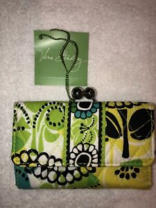 VERA BRADLEY - SMALL KISSLOCK WALLET - LIME'S UP - NWT!