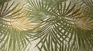 Magnolia Home Bahama Sage Brown Tan Tropical Palm Upholstery Fabric By The Yard