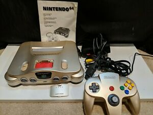 Nintendo 64 Gold Console US System & Expansion Pak Toys R Us N64 Complete Tested