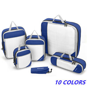Cube Travel Clothes Storage Bags Luggage Organizer Pouch Packing Set Mesh Bags